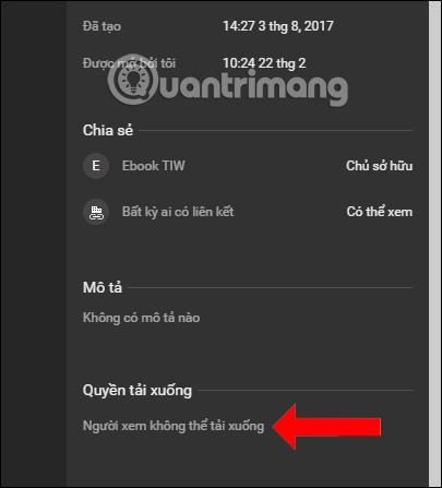 Thông báo chặn tải file