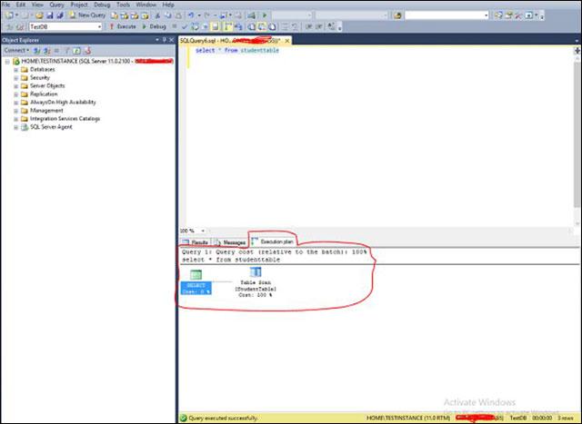 Kế hoạch thực thi thực tế trong SQL Server