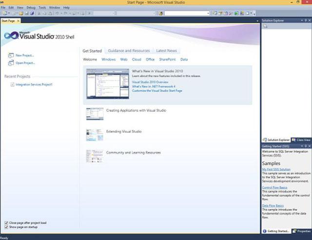 Đã mở màn hình SSDT