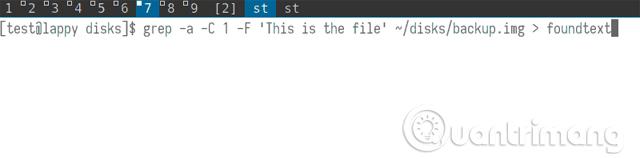 """Tạo một file mới có tên là """"foundtext"""""""