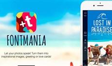 Mời tải ứng dụng tạo chữ nghệ thuật trên ảnh Fontmania, có giá 4,99USD đang miễn phí