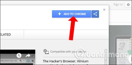 Cài đặt tiện ích Vimium Chrome