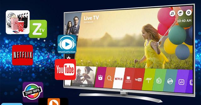 Những lợi ích khi tải ứng dụng trên Smart tivi LG 2017.