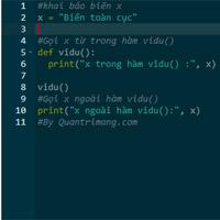 Biến toàn cục (global), biến cục bộ (local), biến nonlocal trong Python