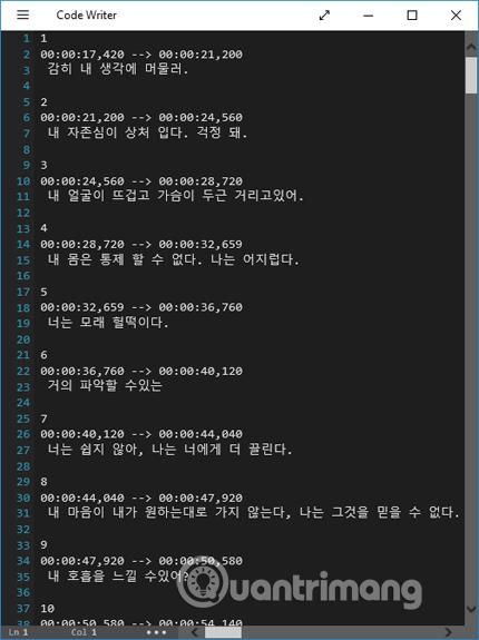 Phụ đề tiếng Hàn