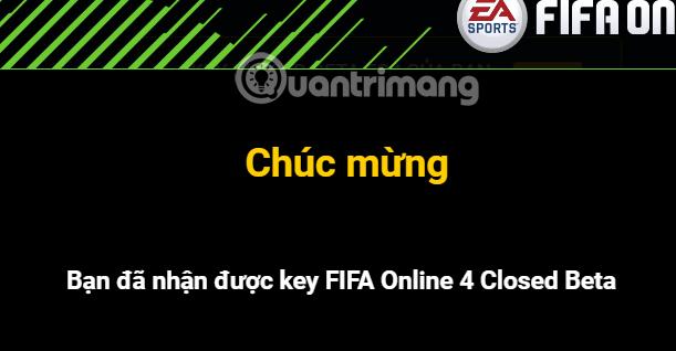 Thông báo nhận key