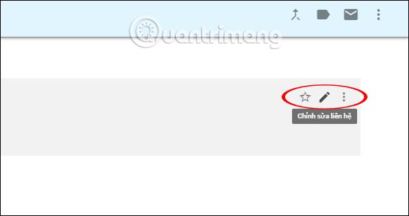 Chỉnh sửa liên hệ trên Gmail
