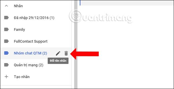 Chỉnh nhãn trên Gmail