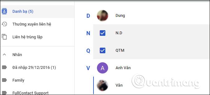 Chọn tài khoản tạo nhóm