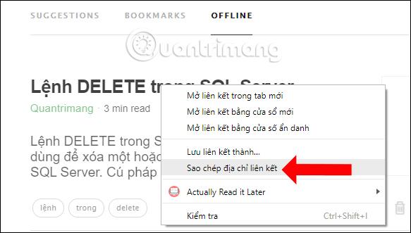Đọc chế độ offline