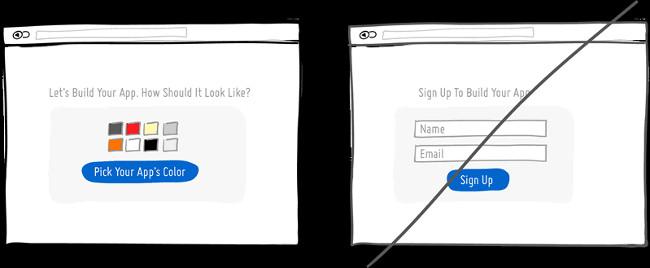 Hãy để người dùng tự tham gia vào thay vì yêu cầu họ đăng ký ngay