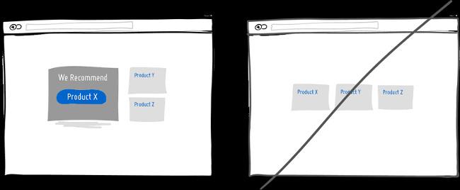 Thử đề xuất sản phẩm thay cho những lựa chọn hiển thị giống nhau