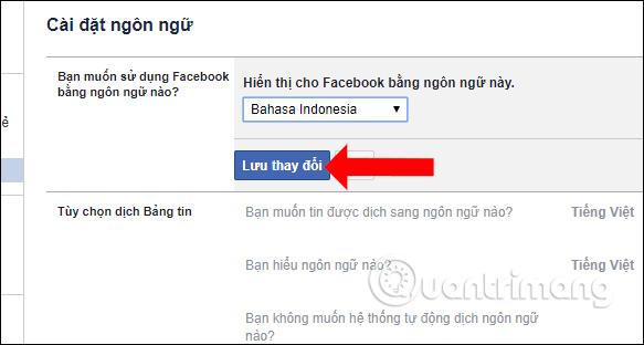Chuyển sang ngôn ngữ Indonesia