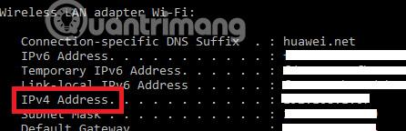 Tìm địa chỉ IP