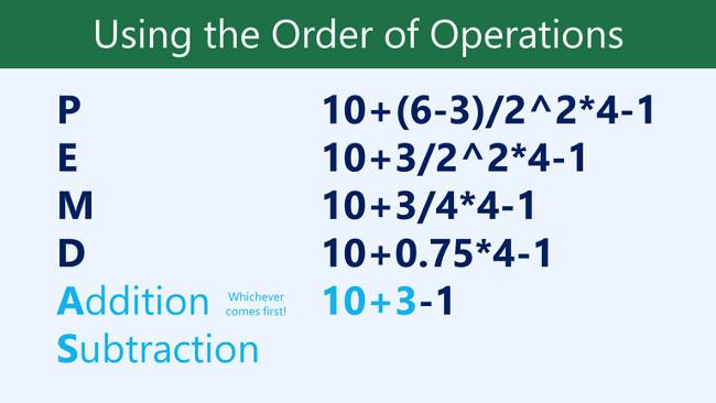Thực hiện phép cộng trước: 10+3=13.