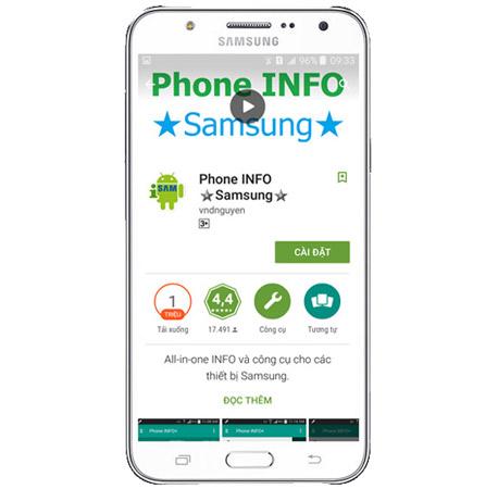 Ứng dụng Phone INFO cho Samsung