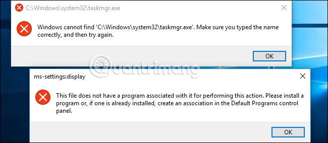 Thông báo nhiều chương trình không còn trên hệ thống