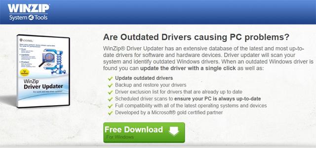 Phần mềm Winzip Driver Updater