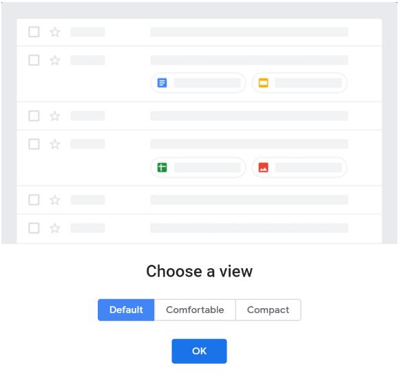 Chế độ xem Default mới của Gmail