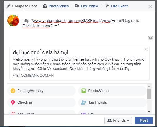 Website của Vietcombank bị hack, hiển thị hai câu thơ chế về đời