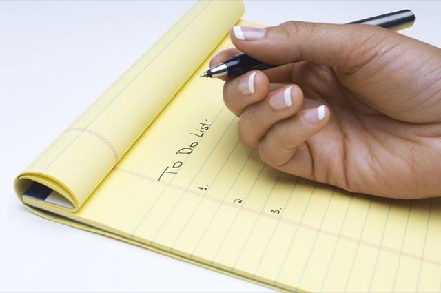 Danh sách việc cần làm ba mục