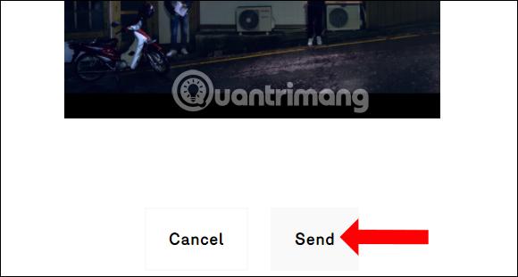 Nhấn nút Send gửi hình ảnh