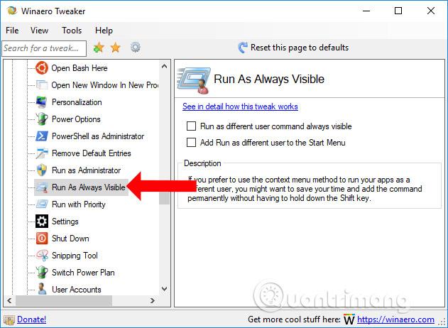 Thêm Run as menu File Explorer