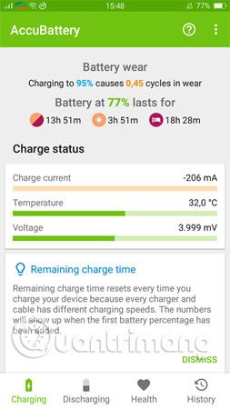 Theo dõi các thông số Charge Status