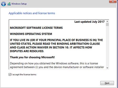 Quá trình cấu hình không khác biệt lắm so với phiên bản Windows 10 Fall Creators