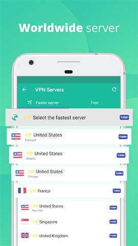 VPN Master danh sách quốc gia