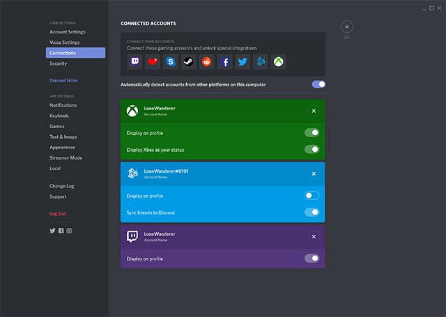 Kết nối với Xbox One từ ứng dụng Discord