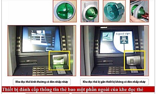 Cách nhận biết các nguy cơ mất an toàn của thẻ ngân hàng trên máy ATM