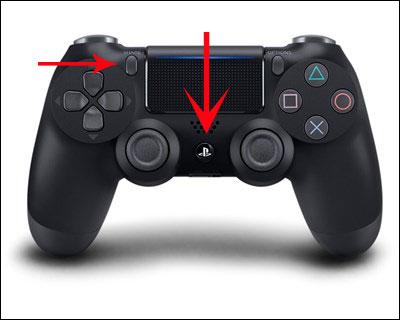 Nhấn nút trên PS4