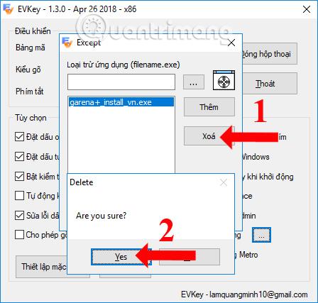 Dùng lại tiếng Việt trên ứng dụng