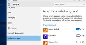 Cách tắt ứng dụng chạy ngầm trên Windows