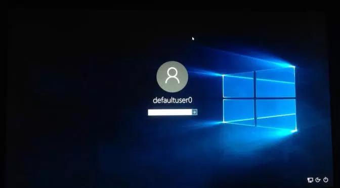 DefaultUser0 Error