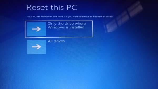 Delete data in the drive
