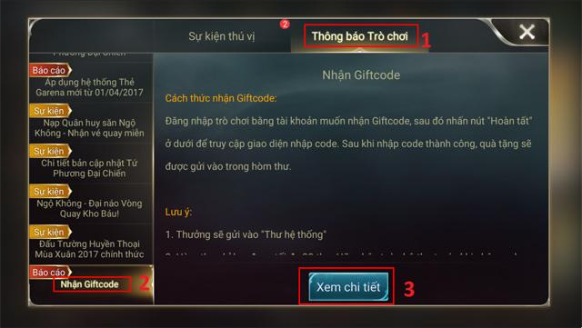 Thông báo trò chơi