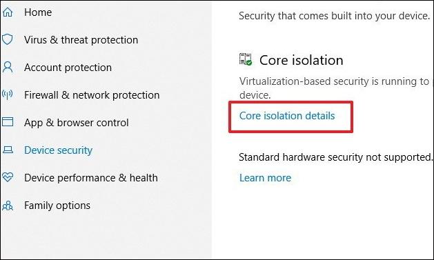 Cách bật tính năng bảo vệ Core isolation trên Windows 10 - Ảnh minh hoạ 4
