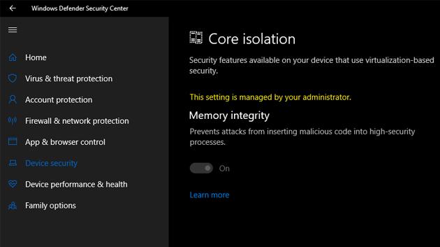 Cách bật tính năng bảo vệ Core isolation trên Windows 10 - Ảnh minh hoạ 7