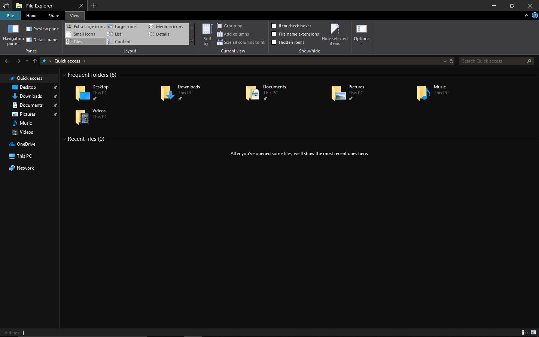 Đây là diện mạo Dark Theme thực sự của File Explorer