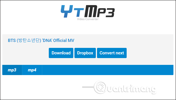 Tải nhạc trên YTMP3