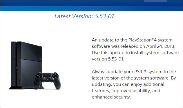 Tải bản cập nhật PS4 mới nhất