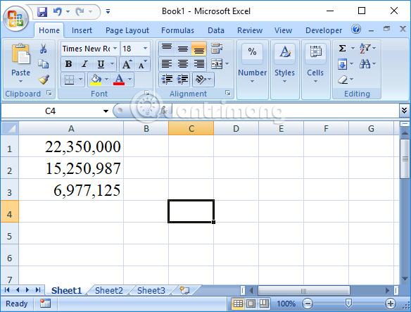 Bảng số liệu