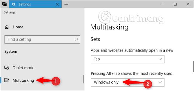 Nhấn Alt + Tab để chỉ hiện thị cửa sổ