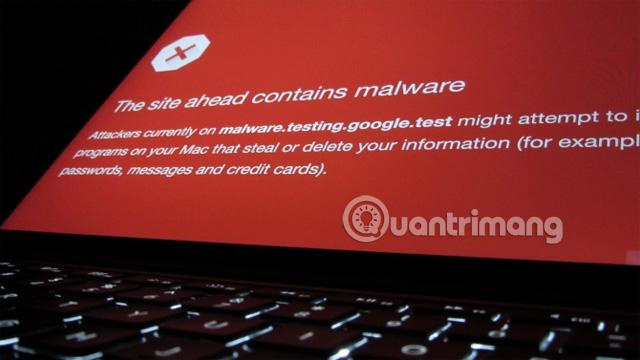 "Cảnh báo ""The Site Ahead Contains Malware"""