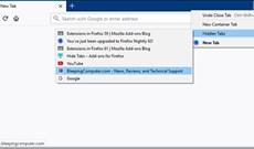 Cách ẩn tất cả tab trên Firefox, thu gọn khi mở quá nhiều tab