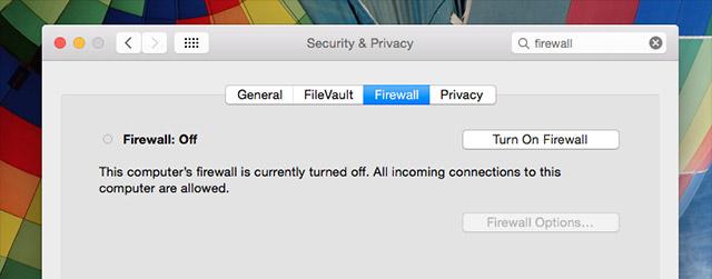 Kích hoạt tường lửa cho Mac