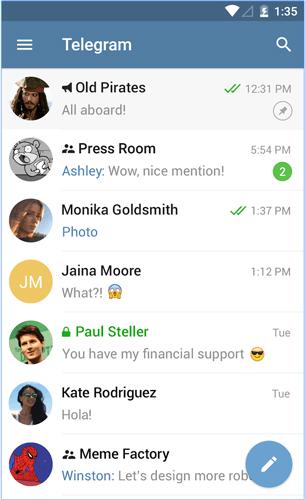 Ứng dụng nhắn tin Telegram