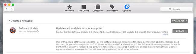 Cập nhật qua Mac Apple Store